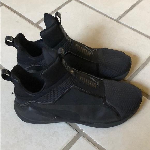 """watch 72ffe 57c6f Black Puma women's """"fierce core"""" sneakers"""